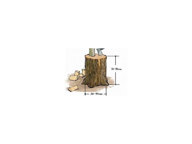 Špalek na  štípání palivového dřeva